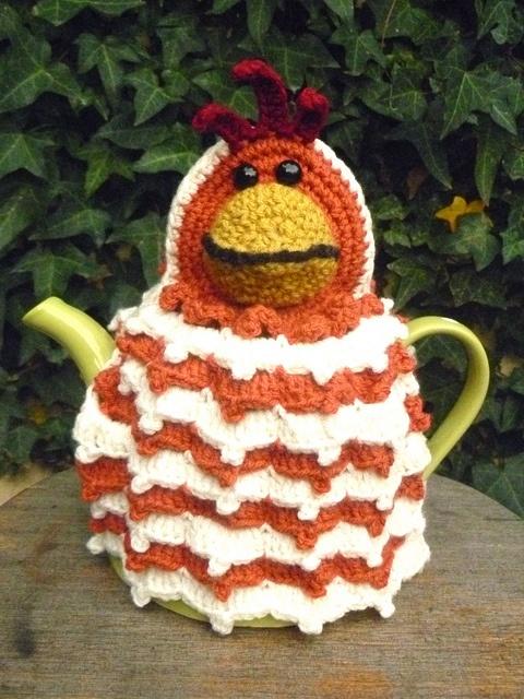 """""""Chook"""" tea cozyTeas Time, Teas Cosy, Teapots Cozy, Chook Teas, Cosies Knits Crochetstitches, Teas Cozy, Crochet Teas, Crochet Cosy, Cosy Teas"""