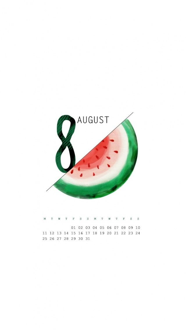 Last month for #summer - #August calender iPhone wallpaper @mobile9