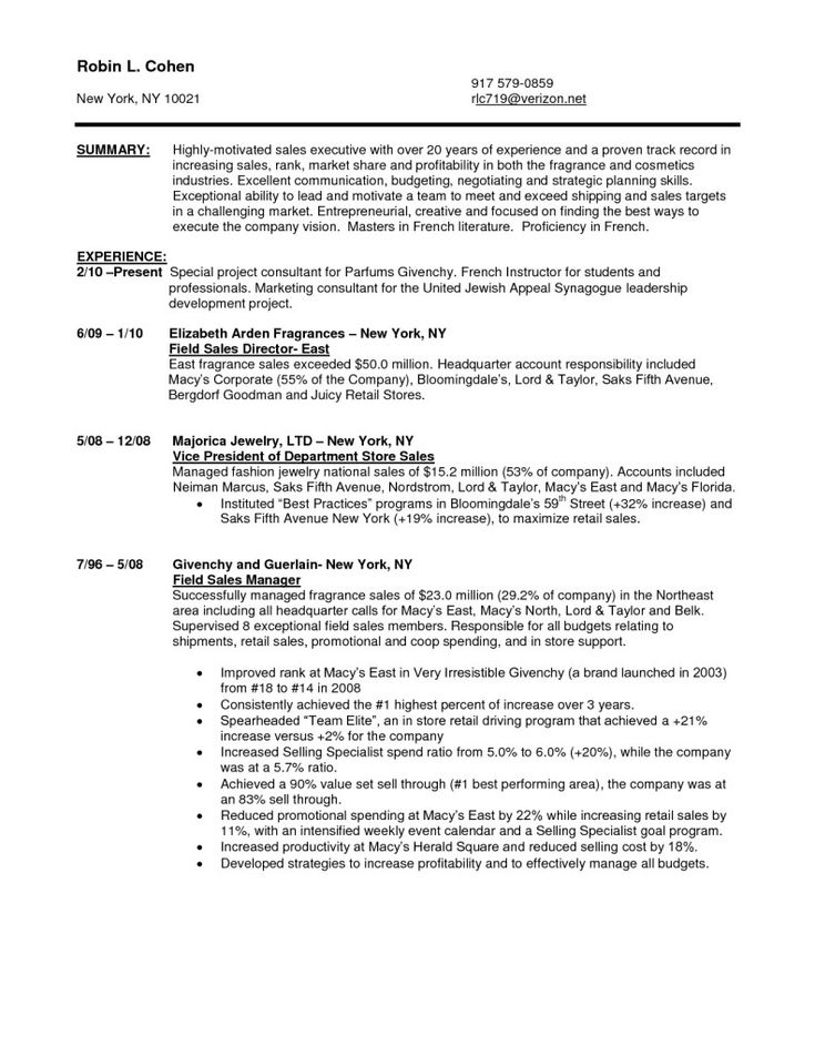 sales resumes examples example resume for entrepreneur page 2