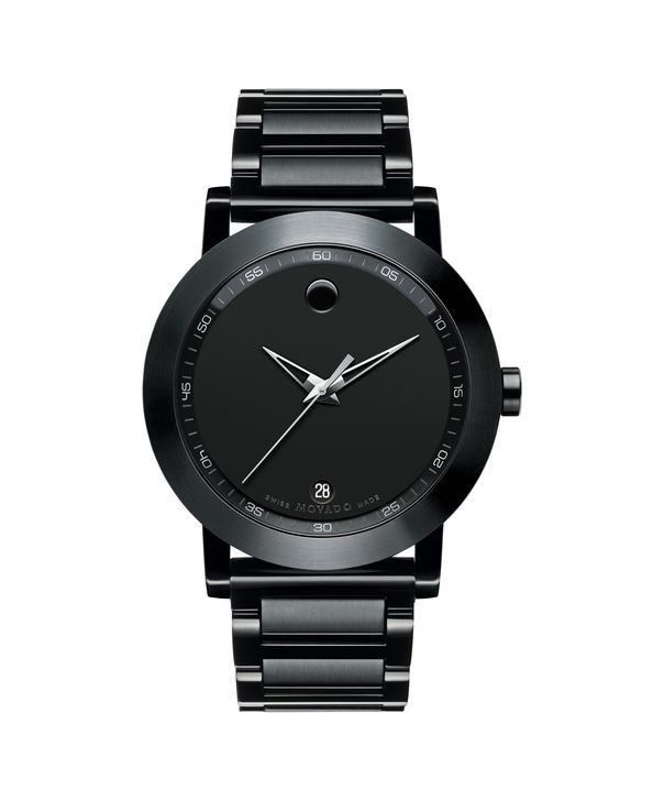 Movado Men's Museum Sport Watch with Black Case and Museum Dial 0606615