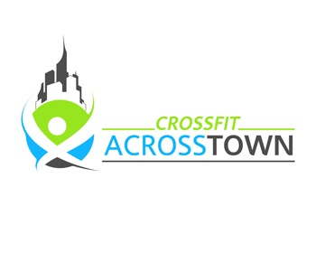 crossfit a cross town logo design