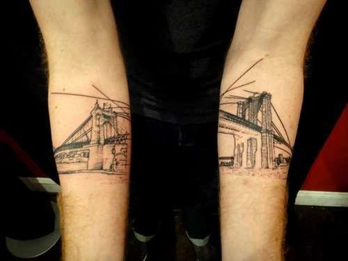 Best 25 bridge tattoo ideas on pinterest san francisco for Club ink tattoo brooklyn