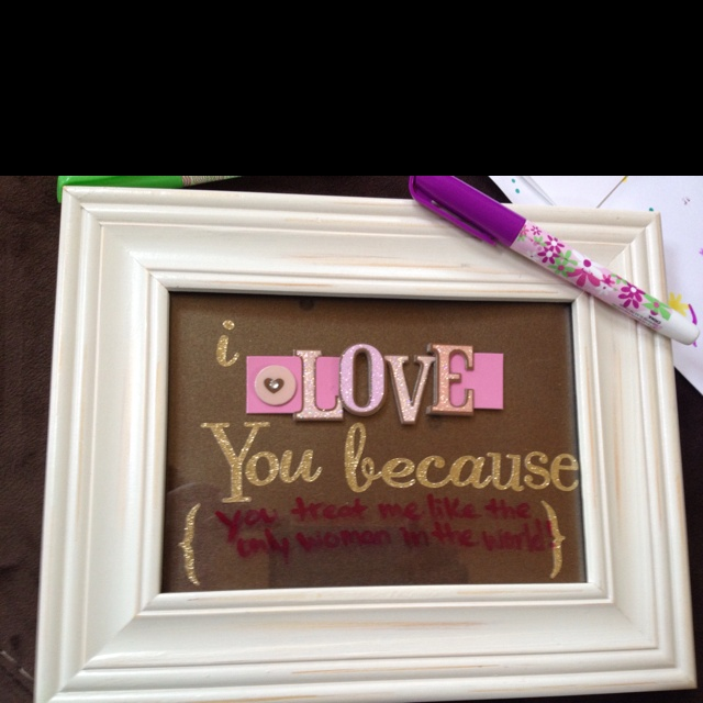 write on a new reason each day with dry erase marker