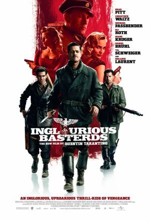 Inglourious Basterds is a 2009 war film written and directed by Quentin Tarantino and starring Brad Pitt, Christoph Waltz, Mélanie Laurent and Eli Roth. The film tells the fictional alternate history story of two plots to assassinate the Nazi Germany political leadership, one planned by a young French Jewish cinema proprietor (Laurent), and the other by a team of Jewish-American soldiers led by First Lieutenant Aldo Raine (Pitt).