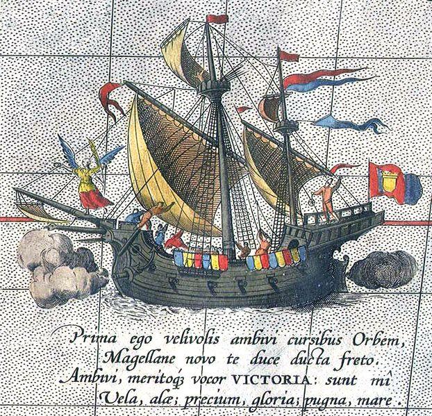 Victoria, o único navio da frota de Magalhães a ter completado a circumnavegação.