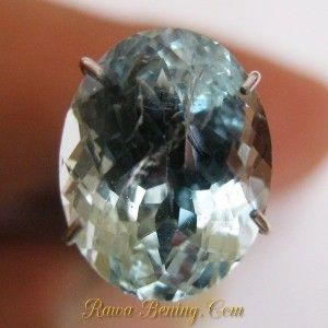 Jual Batu Permata Natural Light Blue Aquamarine Oval Cut 2.85 carat