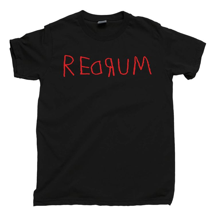 REDRUM T Shirt Stanley Kubrick The Shining Murder Spelled Backward Stephen King Jack Nicholson Heres Johnny Overlook Room 237 Tee Poster by JuiceBoxTeez on Etsy https://www.etsy.com/dk-en/listing/251614606/redrum-t-shirt-stanley-kubrick-the