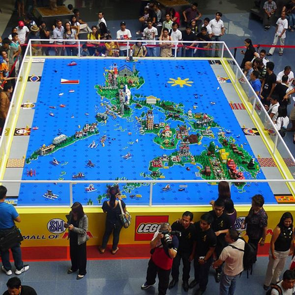 Philippines map made out of lego