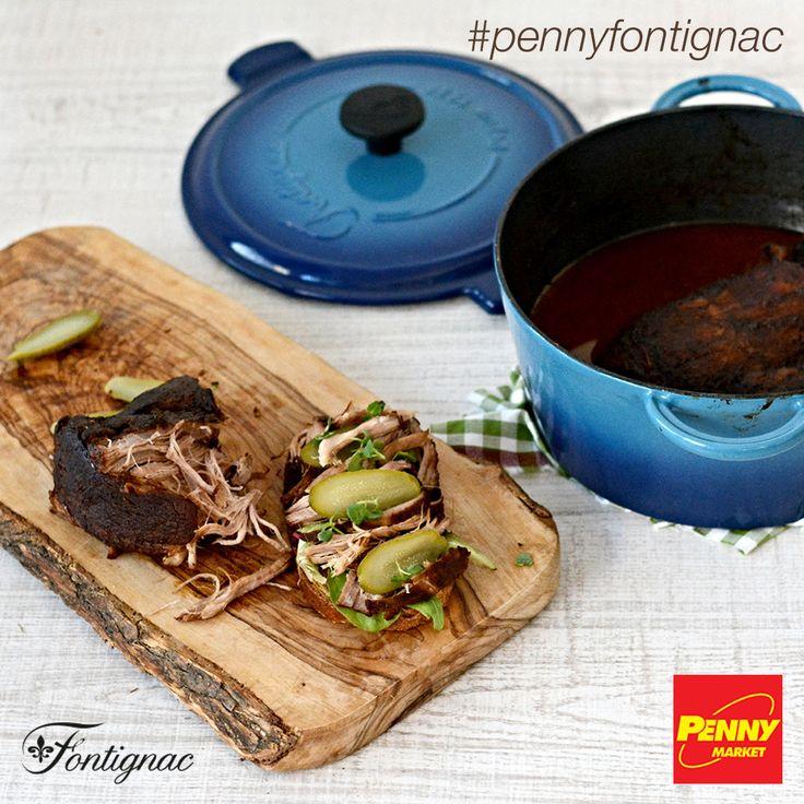 Uvařte si trhané vepřové v kulatém litinovém kastrolu značky Fontignac, který nyní v PENNY můžete získat se slevou až 63 %! Celý recept najdete na http://www.penny-fontignac.cz/recepty/detail/trhane-veprove. Dobrou chuť!   #penny #pennycz #pennymarket #pennymarketcz #pennyfontignac #fontignac #nadobi #nadobifontignac #kuchyne #vareni #peceni #recept #mnam #jidlo #veprove #trhaneveprove