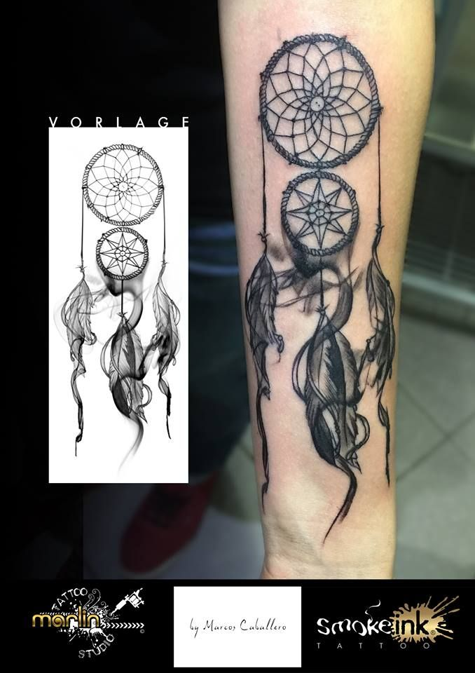 Dreamcatcher smoke ink ® tattoo by Marlin Tattoo Studio Essen