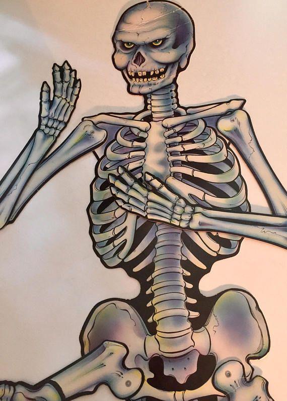 Skeleton Die CutJointed SkeletonDoor DecorVintage DecorationsWindow DisplayHalloween CutPaper SkeletonBeistle Halloween