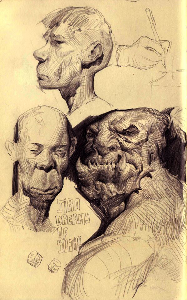 Sketchbook Page by *MikeAzevedo