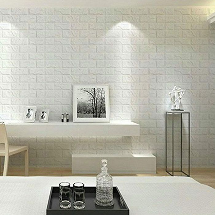 Buy Pvc 3d Foam Brick Wall Panel 77 X 70 Cm 1 Pcs At Best Price In Pakistan In 2020 Brick Wall Paneling Wall Stickers Living Room Living Room Tv Wall