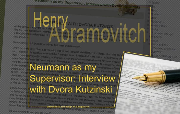 A beautiful and thoughtful interview with Dvora Kutzinski, Jungian analyst and supervisor, a past supervisee of Erich Neumann. The interview took place on October 23, 2005 .