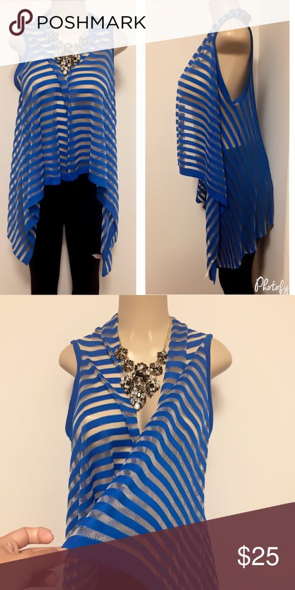Blue and silver vest Bright and beautiful blue color with a hint of silver . Perfect for all times . Tag says S/M and M/L. Bundle for discounts . Also available in green  . Jackets & Coats Vests