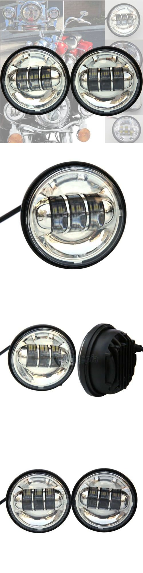motorcycle parts: New 4.5Inch 60W Led Fog Light Passing Lamp For Harley Davidson Motorcycle Silver -> BUY IT NOW ONLY: $38.23 on eBay!