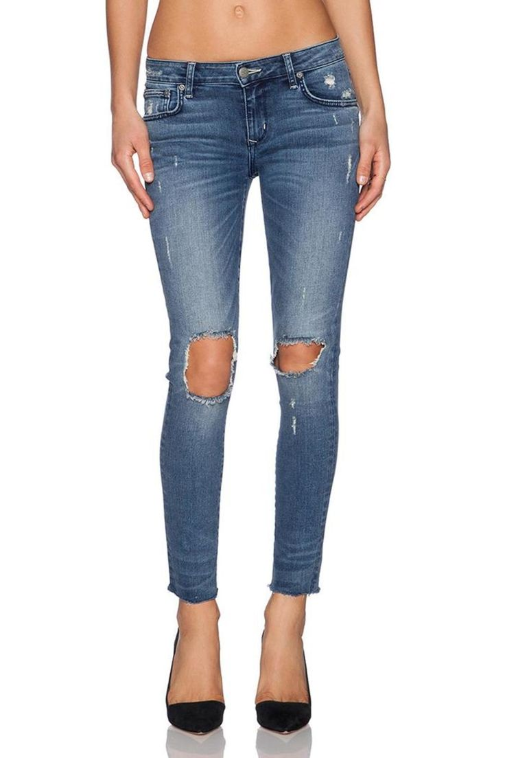 "The Ricky Skinny Jean is a soft denim ankle skinny. The jeans have modern day distressing at the knees for a lived-in feel.    9.5"" Rise, 27"" Inseam, 12"" in the knee narrows to 10"" at the leg opening   Ricky Skinny Jean by Lovers + Friends. Clothing - Bottoms - Jeans & Denim - Skinny Clothing - Bottoms - Jeans & Denim - Distressed Clothing - Bottoms - Jeans & Denim - Ankle Louisiana"