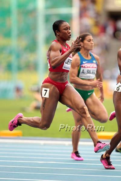 Silver medalist Carmelita Jeter