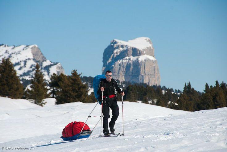 ski autour du Mont Aiguille