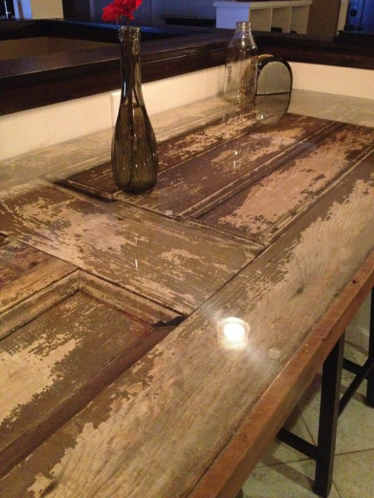 105 best reclaimed barn door ideas images on pinterest barn interior barn door recycled into a table love how we can give this old door new planetlyrics Images