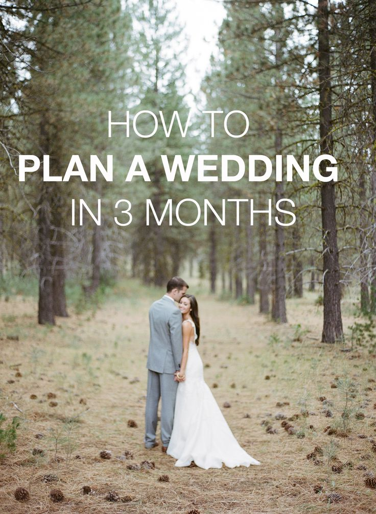 HOW TO PLAN A WEDDING IN 3 MONTHS — Allie Seidel