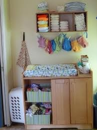 Storage plus clothesline to dry! Super cute