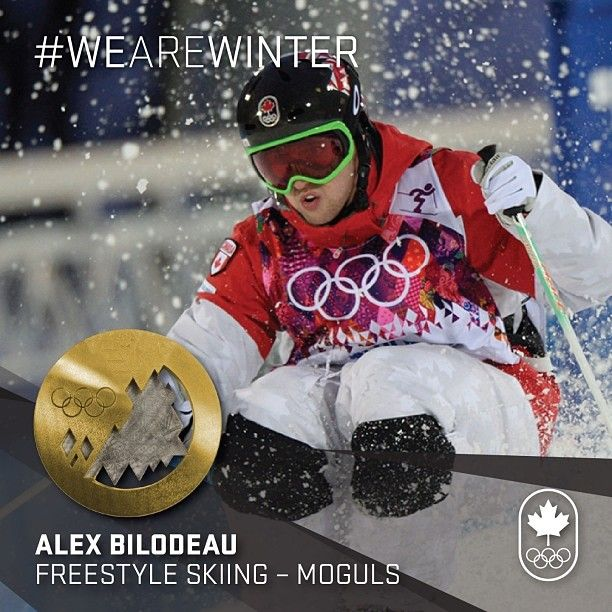 GOLD, again. Alex Bilodeau defends as Olympic champion. #WeAreWinter