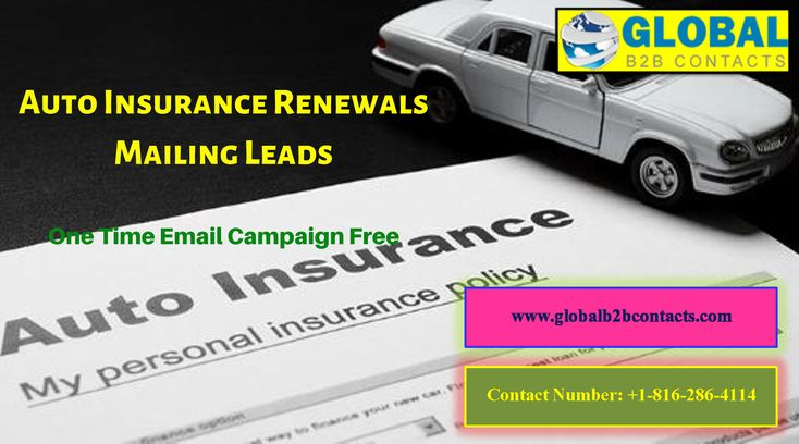 Auto insurance renewals mailing leads email marketing