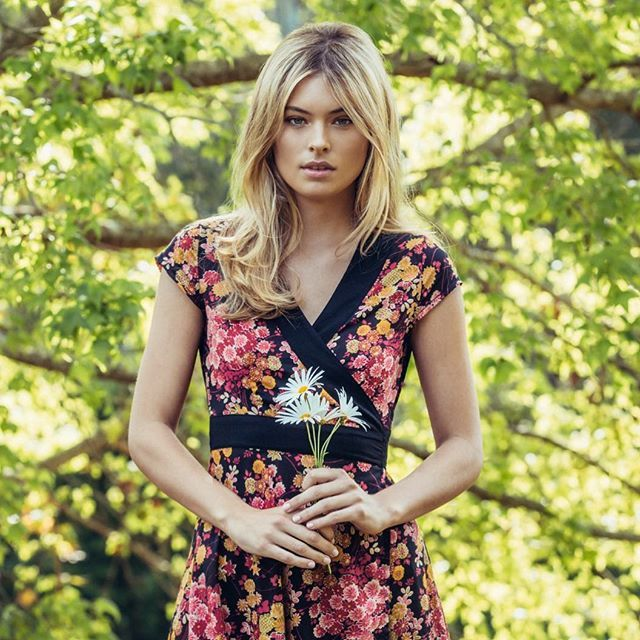 MahaShe Wrap Dress Floral Dark