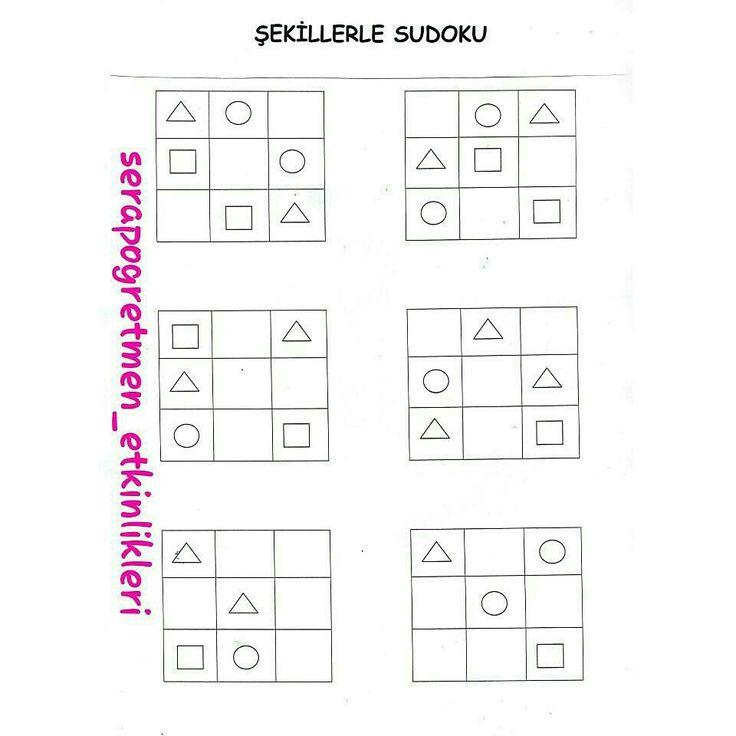 Şekillerle sudoku kalıbım #sudoku #serapogretmen #serapogretmen_etkinlikleri
