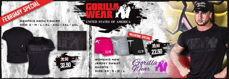 "Gym clothing for the motivated! Show off your hard earned work with Gorilla Wear gear. Check out more apparel & accessories on my ""Mens Fitness Apparel"" Board"