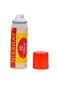 www.nirbhayproducts.com Nirbhay Pepper Spray (35gms) India We believe that everybody is responsible for his or her own well-being and safety. Even in a perfect democratic society,  law cannot be everywhere at all times to help every person in distress. In these conditions, we believe that our product serves as an effective self-defense item. Pepper sprays are popular in the west and are used very effectively numerous times every year in self-defence.