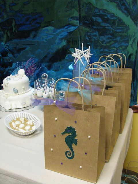 Under the sea: Party Theme....I Love This For Any Age....For Adults, Vary From The Usual Party Fare and Serve Some Seafood Based Hor' Derves or Main Dishes...And, Add A Great White Wine..For Kids, The Usual Treats!!