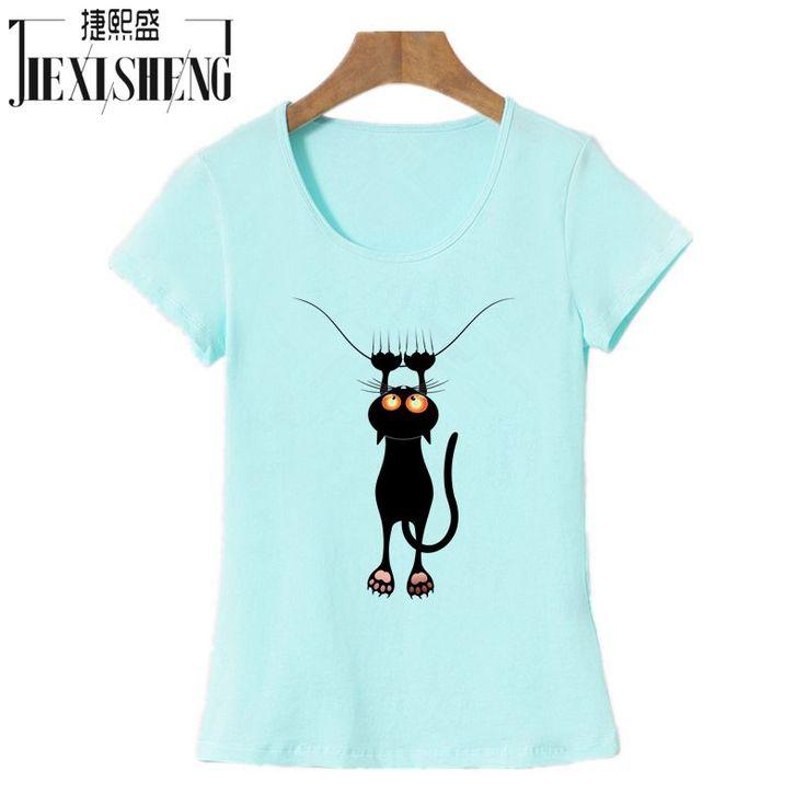 Aliexpress.com: Acheter 2016 Mode kawaii t shirt Femmes D'été Tops Casual Coton 3D Cat Imprimer et Manches Courtes O cou Plus La Taille Vogue t shirt de chemise femmes d'été fiable fournisseurs sur HZGL