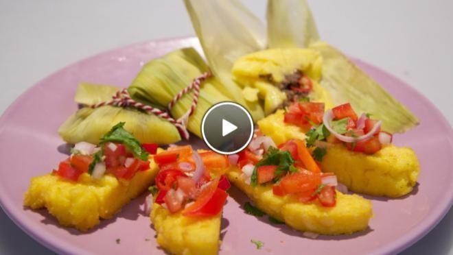 Tamales met pittige salsa uit Mexico & gebakken funchi - Grenzeloos Koken | 24Kitchen