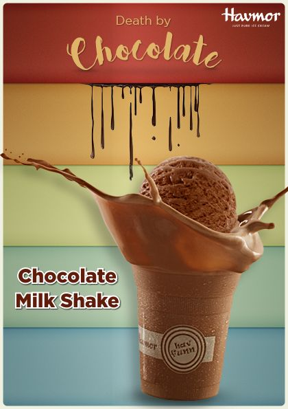Quench your thirst for #DeathByChocolate with a glass of delicious Chocolate  Milkshake by Havmor!