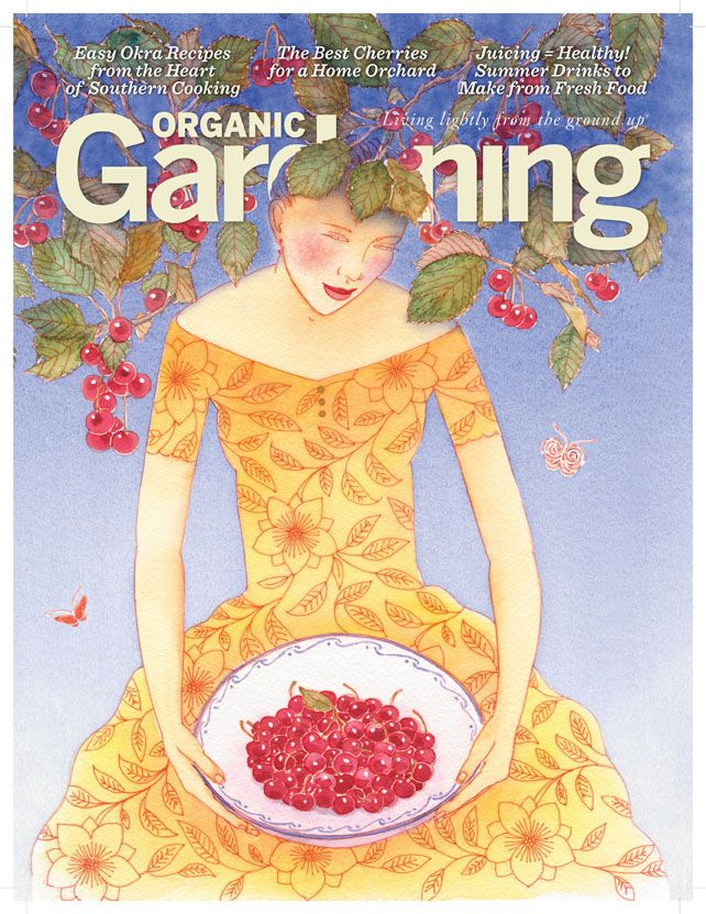 Organic Gardening Cover by Denise Hilton Campbell