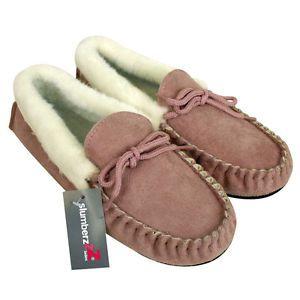 Da-Donna-Mocassini-Camoscio-Sintetico-Pelle-Pelo-Pantofole-Calda-Fodera