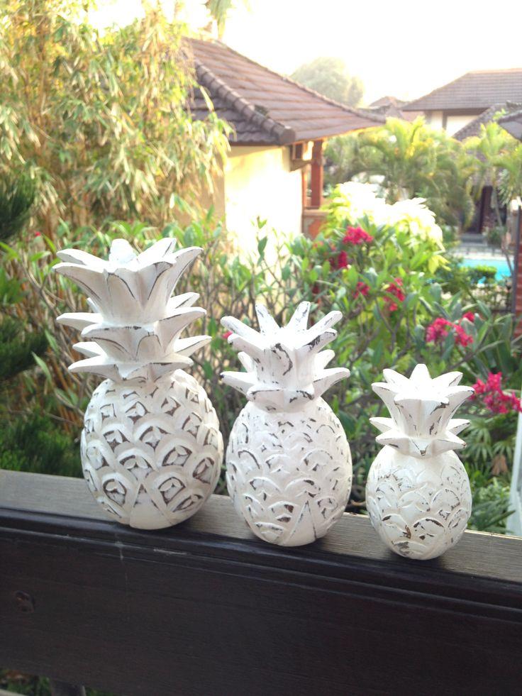 Whitewashed pineapples - Bali Buddha