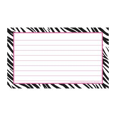 printable index cards 3x5