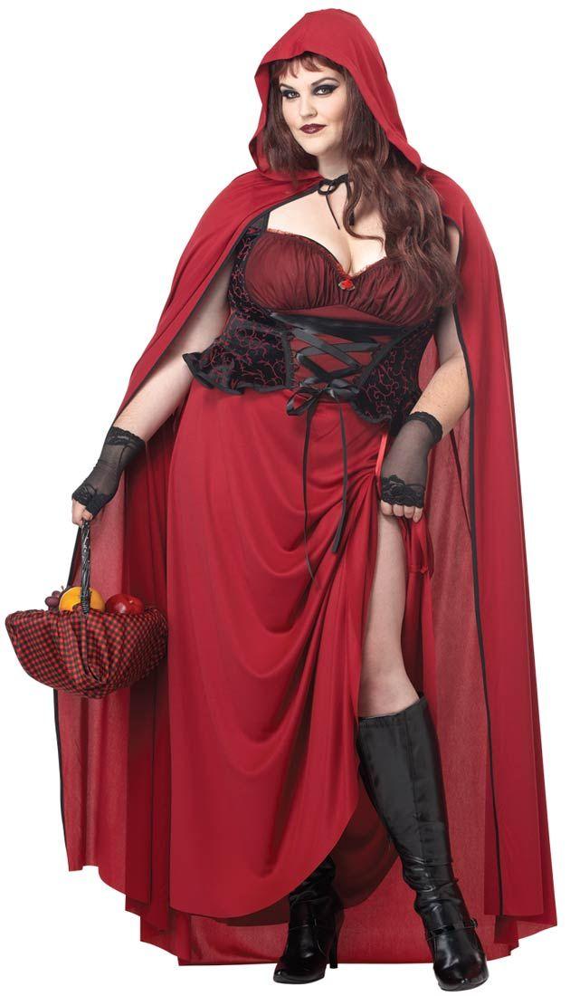 Sexy Dark Red Riding Hood Plus Size Costume - Little Red Riding Hood Costumes