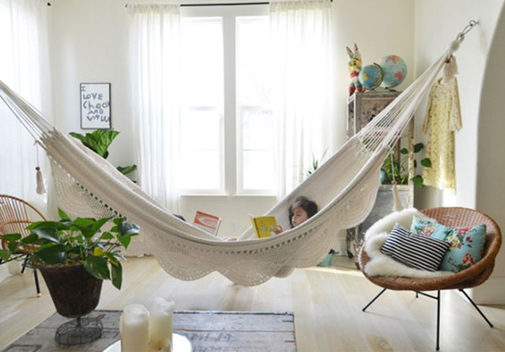 How to Hang a Hammock Indoors | Indoor Hammock Bed