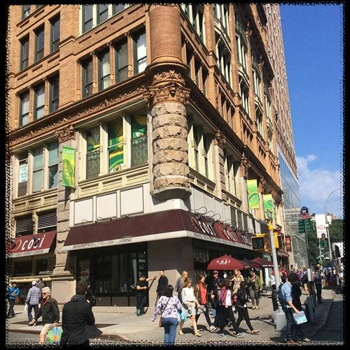 Jivamukti Yoga NYC in Union Square: yoga classes every hour, a vegan cafe, spa services, and a yoga boutique. The hottest yoga in NYC founded in 1985.