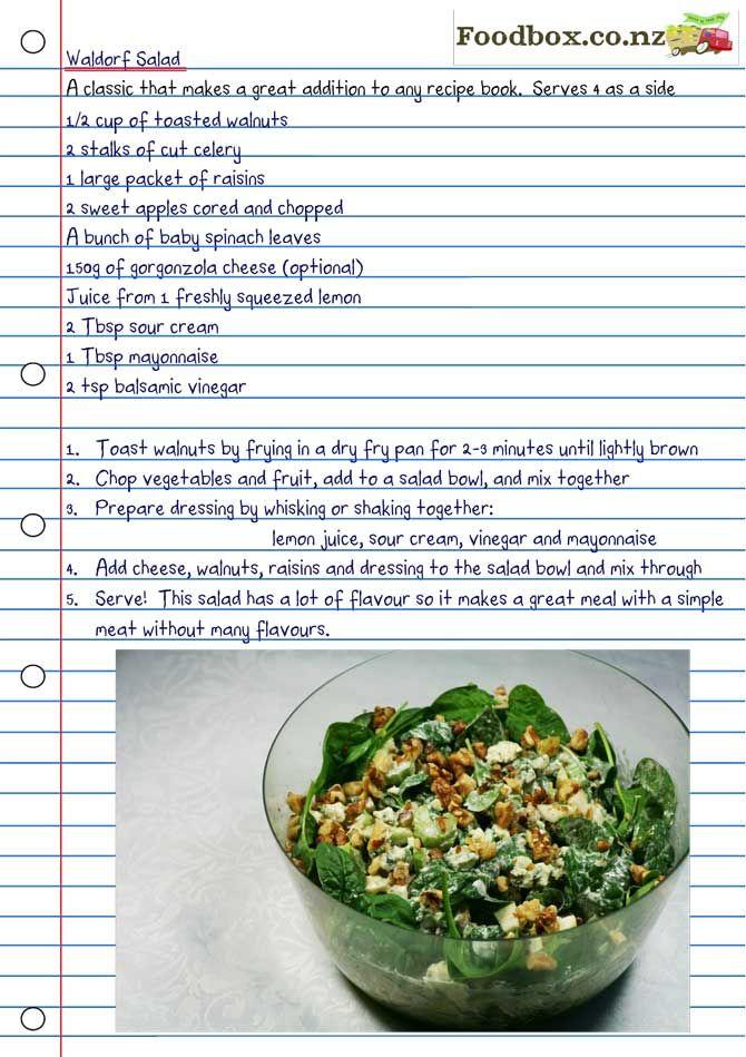 Waldorf Salad Recipe Nz