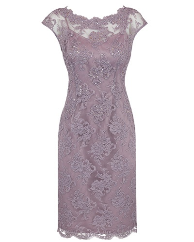 Allure Beaded Lace Dress with Scalloped Detail - Anthea Crawford | Australia
