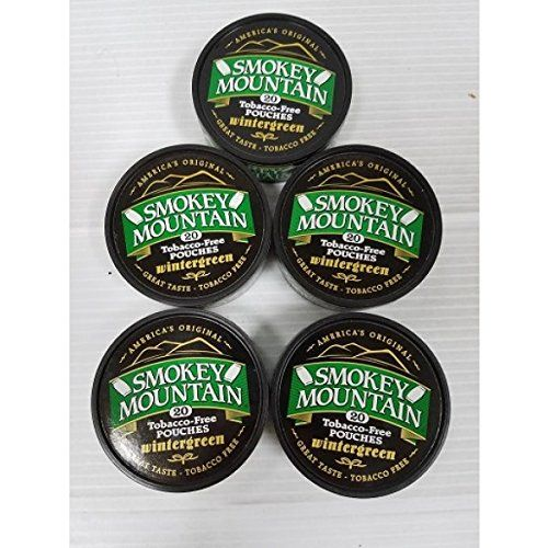 5 Pack Wintergreen Smokey Mountain Snuff  no Tobacco  no Nicotine -- Learn more by visiting the image link.