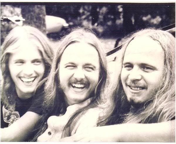 The Van Zant brothers • left to right - Johnny, Donnie, Ronnie