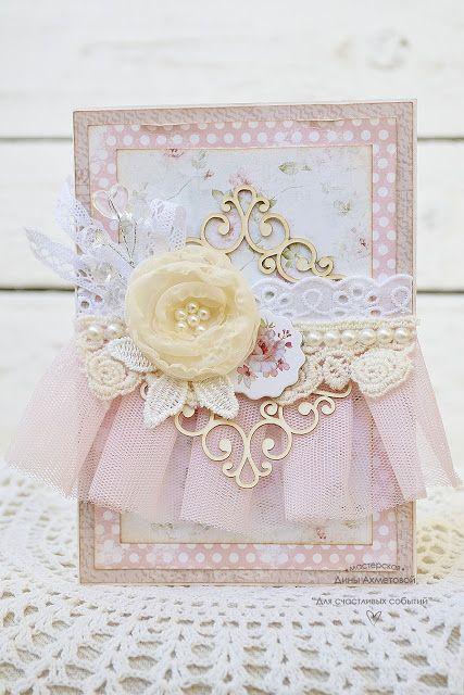 Bee Shabby: Вдохновение от Дины Ахметовой. Свадебные конверты с элементами вышивки