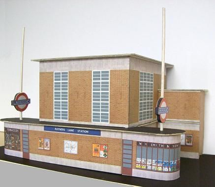 This building at Rayners Lane Station replaced an earlier wooden structure in 1938. Description from kingswaymodels.com. I searched for this on bing.com/images