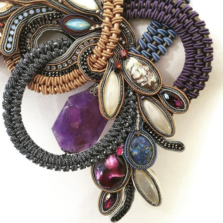 Deep purple by Dori #doricsengeri #design #hautecouture #handmade #jewelry #accessories #art #purple #lifes #statmentjewelry #unique #oneofakind #stylish #beautiful